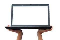 Demostración del ordenador portátil Foto de archivo libre de regalías
