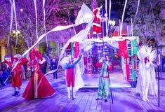 Demostración del parq del invierno en el Linq Las Vegas Foto de archivo libre de regalías