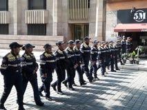 Demostración del Partido Comunista de México que marcha en Ciudad de México en día de trabajo Fotografía de archivo libre de regalías