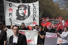 Demostración del primero de mayo en Londres Fotos de archivo libres de regalías