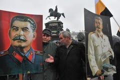 Demostración del primero de mayo en St Petersburg Fotografía de archivo libre de regalías