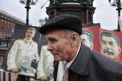 Demostración del primero de mayo en St Petersburg Fotos de archivo