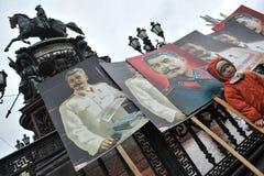 Demostración del primero de mayo en St Petersburg Foto de archivo