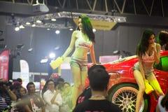 Demostración del túnel de lavado en el salón auto internacional 2018 de Bangkok Fotografía de archivo