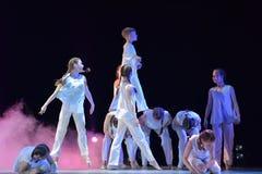 Demostración del teatro de la danza de los niños Fotografía de archivo libre de regalías