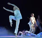 Demostración del teatro de la danza de los niños Imagen de archivo