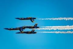 Demostración del vuelo de los ángeles azules Fotos de archivo