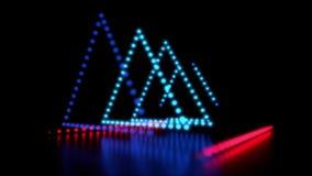 Demostración dinámica de la luz del LED almacen de video