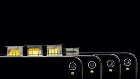Demostración elegante de los camers del teléfono con la tarjeta de SIM Foto de archivo