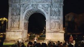 Demostración en el Arco Traiano de Benevento almacen de metraje de vídeo