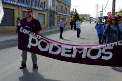 Demostración en Marchena Sevilla 2 Foto de archivo libre de regalías