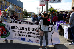 Demostración en Marchena Sevilla 3 Fotografía de archivo