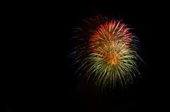 Demostración/Guy Fawkes Night de los fuegos artificiales Imagen de archivo