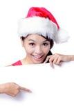 Demostración hermosa de la sonrisa de la muchacha de la Navidad Imagen de archivo