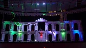 Demostración hermosa del laser en un club popular en Turquía metrajes