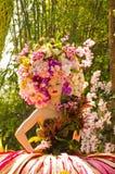 demostración hermosa del modelo del ángel en la flora real 2011. Fotos de archivo libres de regalías