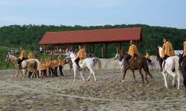 Demostración Hungría del caballo Imagenes de archivo