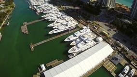 Demostración internacional del barco de Miami metrajes