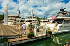 Demostración internacional del barco de Miami Foto de archivo