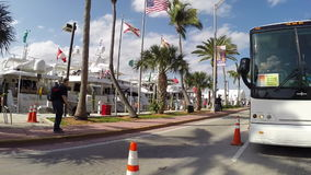 Demostración internacional 3 del barco de Miami Beach almacen de video