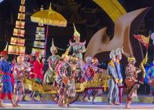 Demostración Khon-Tailandesa de la danza del drama de la cultura Foto de archivo