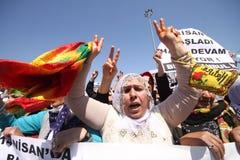 Demostración kurda imagen de archivo libre de regalías