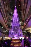 Demostración ligera de la iluminación en el invierno en Ometosando, Tokio, Japón Fotos de archivo libres de regalías