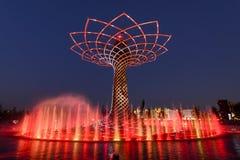 Demostración ligera en el árbol de la vida 07, EXPO Milán 2015 Fotografía de archivo libre de regalías