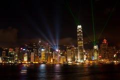 Demostración ligera en Hong-Kong Foto de archivo
