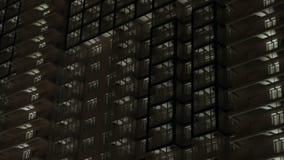 Demostración ligera llevada constructiva en la noche almacen de metraje de vídeo