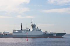 Demostración marítima internacional de la defensa en St. Petersb Foto de archivo
