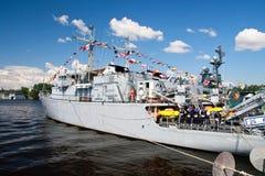 Demostración marítima internacional de la defensa en St. Petersb Fotos de archivo libres de regalías