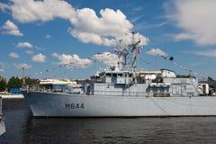 Demostración marítima internacional de la defensa en St. Petersb Imagenes de archivo