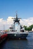 Demostración marítima internacional de la defensa en St. Petersb Imagen de archivo libre de regalías