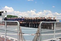 Demostración marítima internacional de la defensa en St. Petersb Foto de archivo libre de regalías