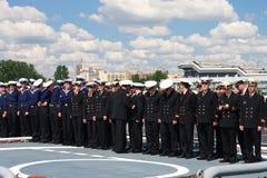 Demostración marítima internacional de la defensa en St. Petersb Fotografía de archivo