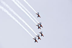 Demostración militar del vuelo en la demostración de aire 2009 Imágenes de archivo libres de regalías