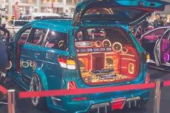 Demostración modificada de la demostración de coche en Bangkok Internationail 2017 Foto de archivo libre de regalías
