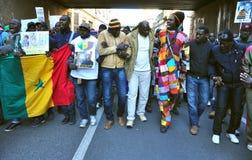 Demostración nacional contra racismo en Italia Fotografía de archivo libre de regalías