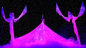 Demostración Neznaika del Año Nuevo en la ciudad Hall Moscow del azafrán. Canción de la sirena. Fotos de archivo