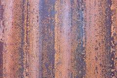 Demostración oxidada del fondo del papel pintado cómo es viejo de la hoja de pared Fotos de archivo