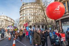 Demostración para ahorrar NHS Fotos de archivo libres de regalías