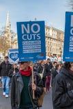 Demostración para ahorrar NHS Foto de archivo libre de regalías