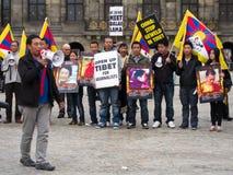 Demostración para Tíbet Imagenes de archivo