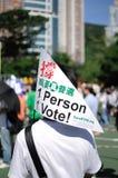 Demostración política, Hong-Kong Fotos de archivo libres de regalías