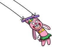 Demostración rosada del conejo ilustración del vector