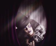Demostración temporaria de la mascarada del juego del ejecutante del teatro Foto de archivo libre de regalías