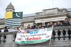 Demostración Trafalgar Square Londres de Cachemira Foto de archivo