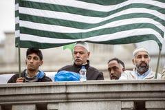 Demostración Trafalgar Square Londres de Cachemira Imagen de archivo libre de regalías