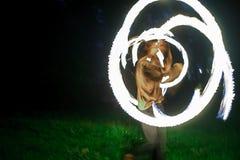 Demostración Tribo Fuego del fuego Fotos de archivo libres de regalías